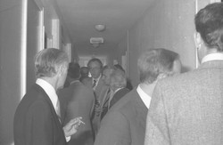 Inauguration d'un foyer à Bourgoin-Jallieu, secrétaire d'état en visite