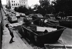 Lyon. Pentes de la Croix-Rousse, rue Bodin, 1980