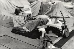Campement des Indignés, place des Terreaux, novembre