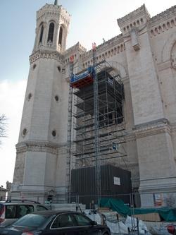 La basilique de Fourvière, travaux de rénovation