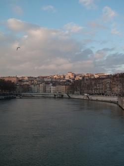 La Croix-Rousse vue depuis le pont A. Juin