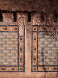 Parc de la Tête-d'Or : décor de céramique du garage à bateaux