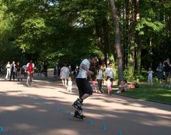 Parc de la Tête-d'Or : patineuses et patineurs