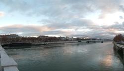 Le quai Augagneur vu du pont Wilson