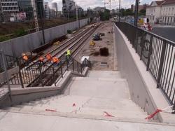 Rue Mouton-Duvernet chantier T4 station Manufacture des Tabacs