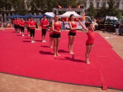 Place Bellecour : démonstration de gymnastique