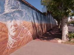 [Prison Montluc : fresque du mur d'enceinte, rue du Dauphiné]