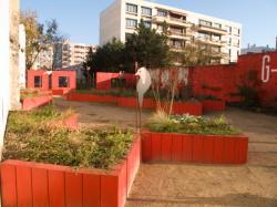 """[Jardin éphémère """"La Friche Rouge"""" à Villeurbanne]"""