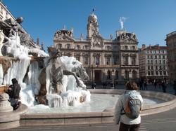 Fontaine Bartholdi sous la glace