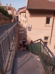 Montée des Chazeaux vue depuis la Montée Saint-Barthélemy