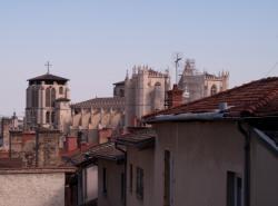 Vue de la Primatiale Saint-Jean depuis la Montée des Chazeaux