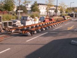 Chantier de prolongement de la rue Mouton-Duvernet et de la T4 : une voie prête à poser