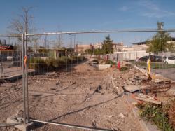 Chantier de prolongement de la rue Mouton-Duvernet et de la T4 : excavations