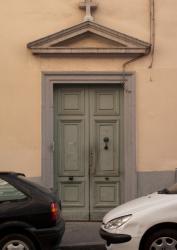 Immeuble des Hospices Civils de Lyon, la porte d'entrée, rue Burdeau