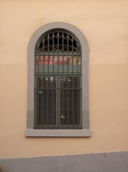 Immeuble des Hospices Civils de Lyon, une fenêtre et ses barreaux, rue Burdeau