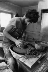 [Atelier de poterie de Roland Breton à Saint-Bonnet-le-Château]