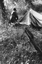 [Manoeuvres militaires du 11 B.C.A. à Sisteron (opération Chamois 3)]