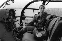 [Capitaine Nicole Riedel, commandant d'escadrille à Corbas]