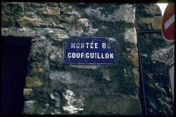 """Plaque """"Montée du Gourguillon"""""""