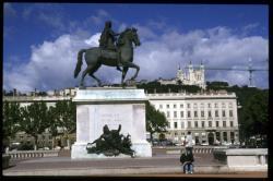 Statue de Louis XIV sur la place Bellecour