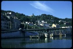 Démolition du pont de l'Homme de la Roche sur la Saône