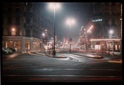 Lyon la nuit : rue de la République