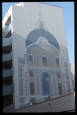 Rue Mazenot : mur peint