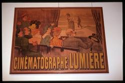 """Institut Lumière : affiche """"Cinématographe Lumière"""""""