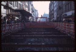 Chantier du métro : rue de la République