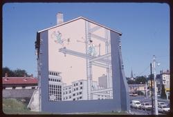 Mur peint par Joost Swarte à Vaise