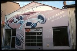 Mur peint carrosserie