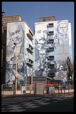 Mur peint, avenue Lacassagne