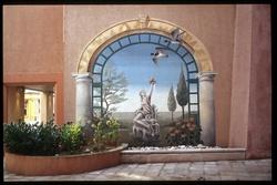 68 rue mercière : mur peint