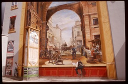 [Le Théâtre des Charpennes, mur peint cours André-Philip]