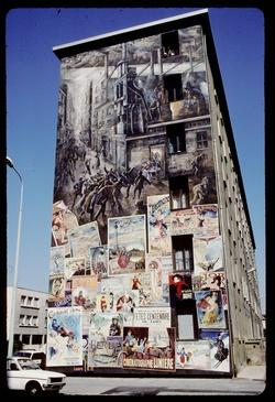 Mur peint : quartier de Etats Unis