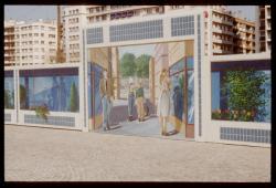 Mur peint : Place de l' Europe