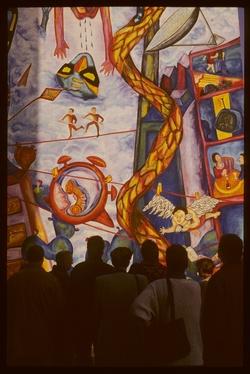 Mur peint : la Consécration
