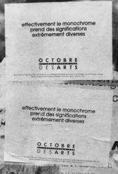 [Placards pour Octobre des arts (1988)]