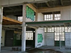 Marché de gros : vue panoramique de l'intérieur du bâtiment