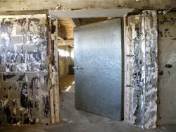 Marché de gros : intérieur d'une chambre frigorifique