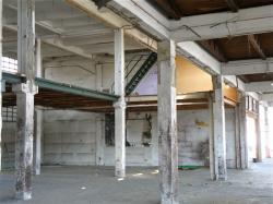 Intérieur du Marché de gros, en déconstruction