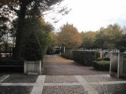 [Parc-cimetière du Grand-Lyon à Bron : une allée]
