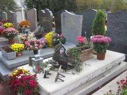 [Parc-cimetière du Grand-Lyon à Bron : les tombes fleuries]