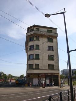 Immeuble détruit chantier tramway
