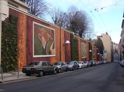 [Mur peint végétal, rue de l'Annonciade]