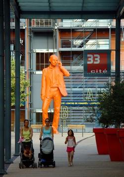 """[""""Les Habitants"""", sculpture de Xavier Veilhan]"""