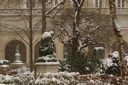 Jardin Saint-Pierre sous la neige