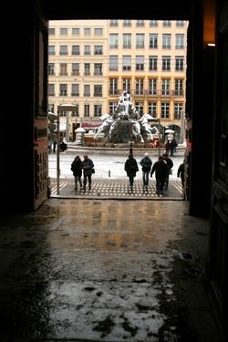 Place des Terreaux vues du Palais Saint-Pierre