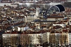 Vue de l'Hotel de Ville et de l'Opéra