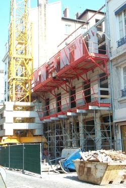 Construction de la bibliothèque rue de Condé